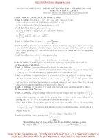 Đề thi thử lần 1 khối A, B, D trường THPT Hậu lộc 2 - Thanh Hóa