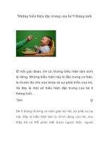 Tài liệu Những biểu hiện đặc trưng của bé 9 tháng tuổi pptx