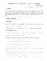Tài liệu Bất đẳng thứ Karamata và một số ứng dụng ppt