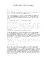 Tài liệu Kỹ năng thuyết phục lòng người pdf
