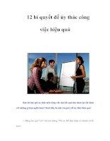 Tài liệu 12 bí quyết để ủy thác công việc hiệu quả pdf