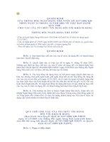Tài liệu QUY CHẾ CHO VAY CỦA TỔ CHỨC TÍN DỤNG ĐỐI VỚI KHÁCH HÀNG pdf