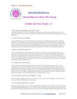 Tài liệu Tuyển tập thủ thuật - IT docx