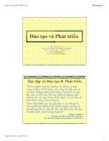 Tài liệu Bài Giảng - Đào tạo và phát triển pptx