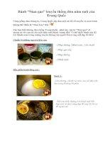 """Tài liệu Bánh """"Nian gao"""" truyền thống đón năm mới của Trung Quốc doc"""