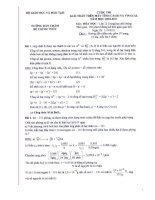 hướng dẫn chấm cuộc thi giải toán trên máy tính casio môn  hóa hoc lớp 12 trung học phổ thông