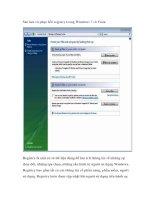Tài liệu Sao lưu và phục hồi registry trong Windows 7 và Vista docx
