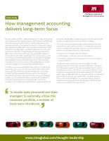 How management accounting delivers long-term focus