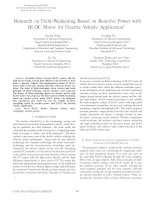 Research on field weakening based on reactive power with BLDC motor for electric vehicle application