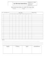 Tài liệu Mẫu bảng đánh giá năng lực nhân viên doc