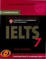Tài liệu Cambridge IELTS 7 part 1 ppt