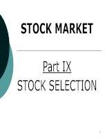 Tài liệu Phân tích cơ bản và phân tích kĩ thuật trong thị trường chứng khoáng pdf