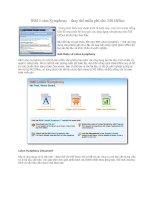 Tài liệu IBM Lotus Symphony – thay thế miễn phí cho MS Office docx