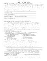 Tài liệu 17 Bài đọc hiểu Tiếng Anh pdf