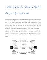 Tài liệu Làm Brochure thế nào để đạt được hiệu quả cao doc