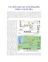 Tài liệu Các chiến lược bảo vệ hệ thống điều khiển và hệ SCADA doc