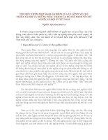 Tài liệu TÌM HIỂU THÊM MỘT SỐ QUAN ĐIỂM CỦA V.I.LÊNIN VỀ CHỦ NGHĨA XÃ HỘI VÀ NHỮNG PHÁC THẢO CỦA HỒ CHÍ MINH VỀ CHỦ NGHĨA XÃ HỘI Ở VIỆT NAM ppt
