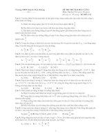 Tài liệu Đề thi thử đại học môn Vật lý của trường THPT Huỳnh Thúc Kháng pdf