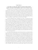 Tài liệu CHƯƠNG 1 VAI TRÒ, VỊ TRÍ, ĐẶC ĐIỂM VÀ KHẢ NĂNG PHÁT TRIỂN NGÀNH NUÔI TRỒNG THỦY SẢN Ở VIỆT NAM docx