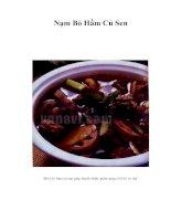 Tài liệu Nạm Bò Hầm Củ Sen pdf