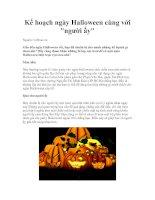 Tài liệu Kế hoạch ngày Halloween cùng với