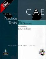 CAE Practice Tests Plus Students Book
