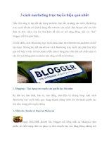 3 cách marketing trực tuyến hiệu quả nhất pot