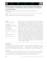 Báo cáo khoa học: Intermodule cooperativity in the structure and dynamics of consecutive complement control modules in human C1r Structural biology docx
