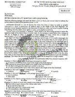 Đề thi đại học môn Tiếng anh năm 2013 - Mã đề 693 - Khối A pdf
