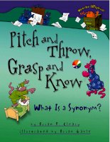 Pitch and throw, grasp and know - what is a synonym