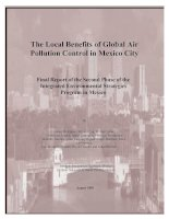 The Local Benefits of Global Air Pollution Control in Mexico City - Final Report of the Second Phase of the Integrated Environmental Strategies Program in Mexico ppt