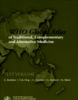 world health organization global atlas of traditional complementary 1 pot