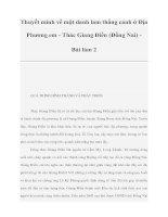 Thuyết minh về một danh lam thắng cảnh ở Địa Phương em - Thác Giang Điền (Đồng Nai) Bài làm 2 pdf