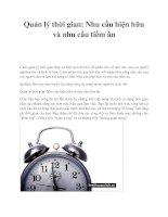 Quản lý thời gian: Nhu cầu hiện hữu và nhu cầu tiềm ẩn pptx