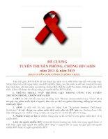 Đề cương tuyên truyền phòng, chống HV/AIDS năm 2011 và năm 2014 (ban tuyên giáo tỉnh ủy đồng tháp)