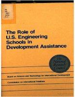 the role of u s engineering schools in development assistance doc