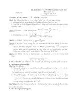 ĐỀ THI THỬ TUYỂN SINH ĐẠI HỌC NĂM 2013 Môn: Toán học ĐỀ SỐ 08 pptx