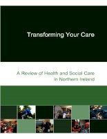 Transforming Your Care A Review of Health and Social Care in Northern Ireland pptx
