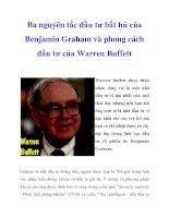 Ba nguyên tắc đầu tư bất hủ của Benjamin Graham và phong cách đầu tư của Warren Buffett ppt
