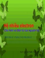 Hệ nhiều electron (Cấu hình vỏ điện tử của nguyên tử) pot