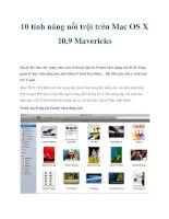 10 tính năng nổi trội trên Mac OS X 10.9 Mavericks docx