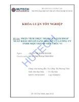Luận văn: Phân tích thực trạng và giải pháp xuất khẩu đồ gỗ sang Hoa Kỳ của công ty TNHH một thành viên Trúc Vi pot