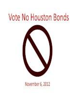 Vote No Houston Bonds November 6, 2012 pot