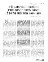 Báo cáo khoa học: Về khuynh hướng phê bình hiện sinh ở đô thị miền Nam 1954- 1975 ppt