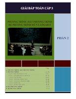 Phương trình, bất phương trình hệ phương trình mũ và lôgarit ( phần 2)