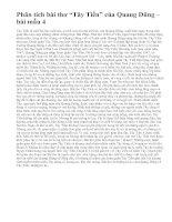 """Phân tích bài thơ """"Tây Tiến"""" của  Quang Dũng – bài mẫu 4"""