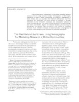 The Field Behind the Screen: Using Netnography For Marketing Research in Online Communities pptx