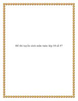 Đề thi tuyển sinh môn toán lớp 10 số 57 pdf