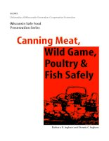 CANNING MEAT, WILD GAME, POULTRY & FISH SAFELY ppt
