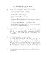 BÀI TẬP HỌC PHẦN TÂM LÝ HỌC ĐẠI CƯƠNG Bài thảo luận số 3 pdf